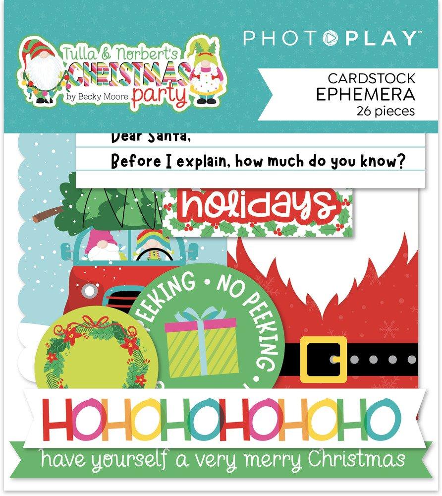 Photo Play Paper Ephemera, Tulla & Norbert's Christmas Party