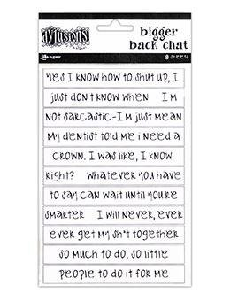 Ranger Dylusions Bigger Back Chat Stickers, White by Dyan