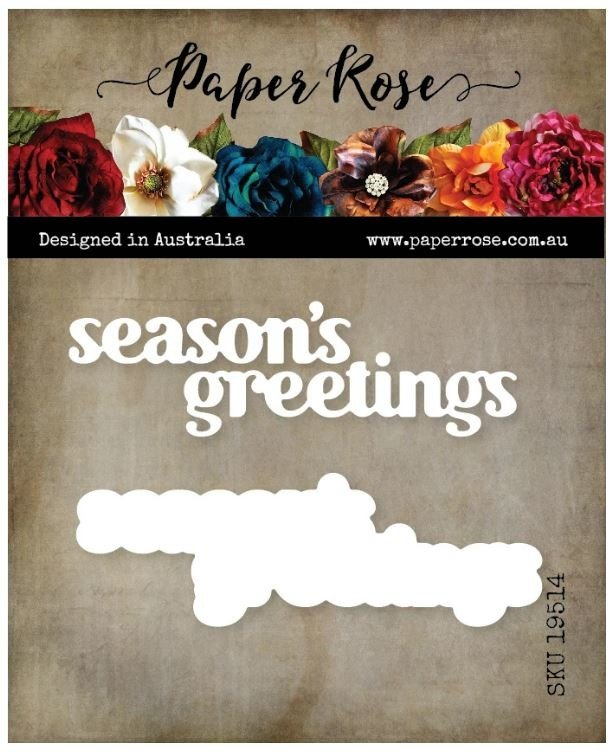 Paper Rose Die, Season's Greetings Chunky