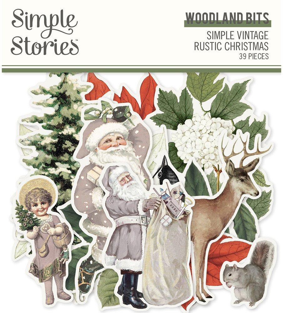 Simple Stories Bits & Pieces, Simple Vintage Rustic Christmas - Woodland