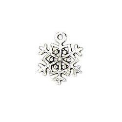 Random Snowflake Charms Metal 6pc