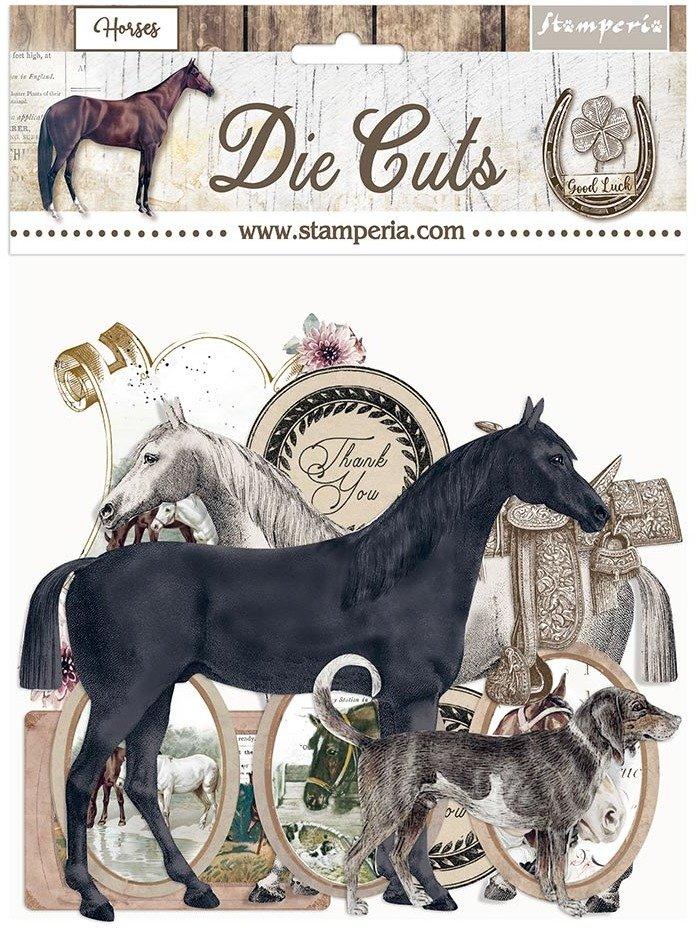 Stamperia Die Cuts, Horses