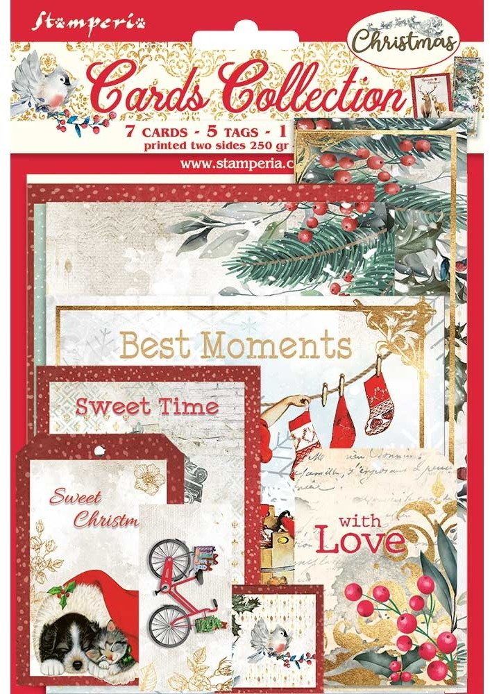 Stamperia Cards Collection, Romantic Christmas