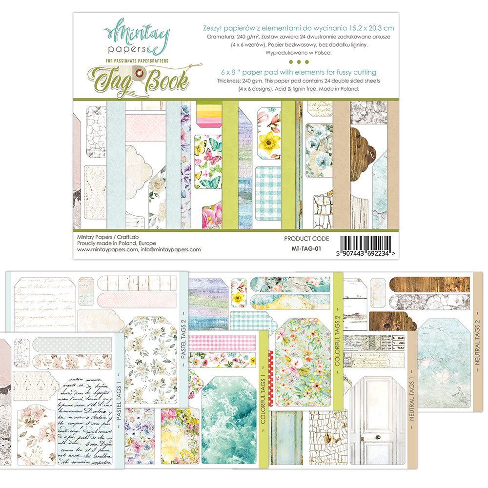 Mintay Paper Tag Book Cut Out Paper Pad 6x8