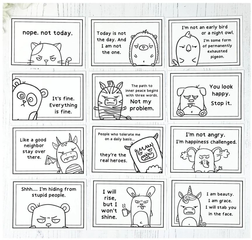 Taylored Expressions Clipboard Calendar Cards, Snarky