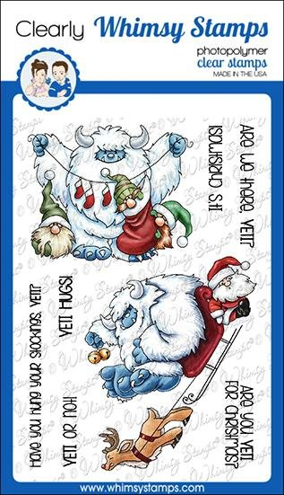 Whimsy Stamps Yeti for Christmas Clear Stamps
