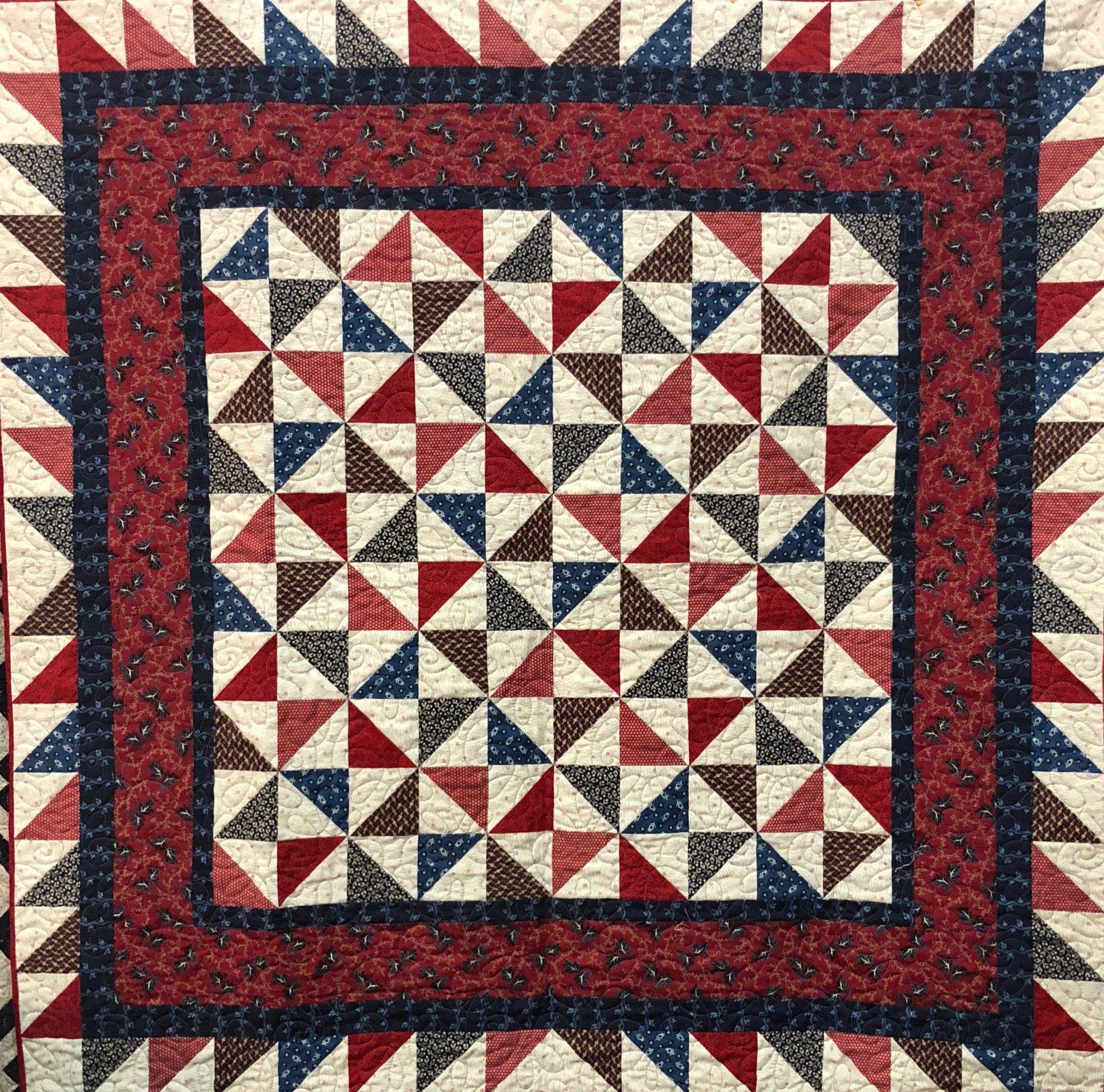 Pinwheel Triangles Kit RWB
