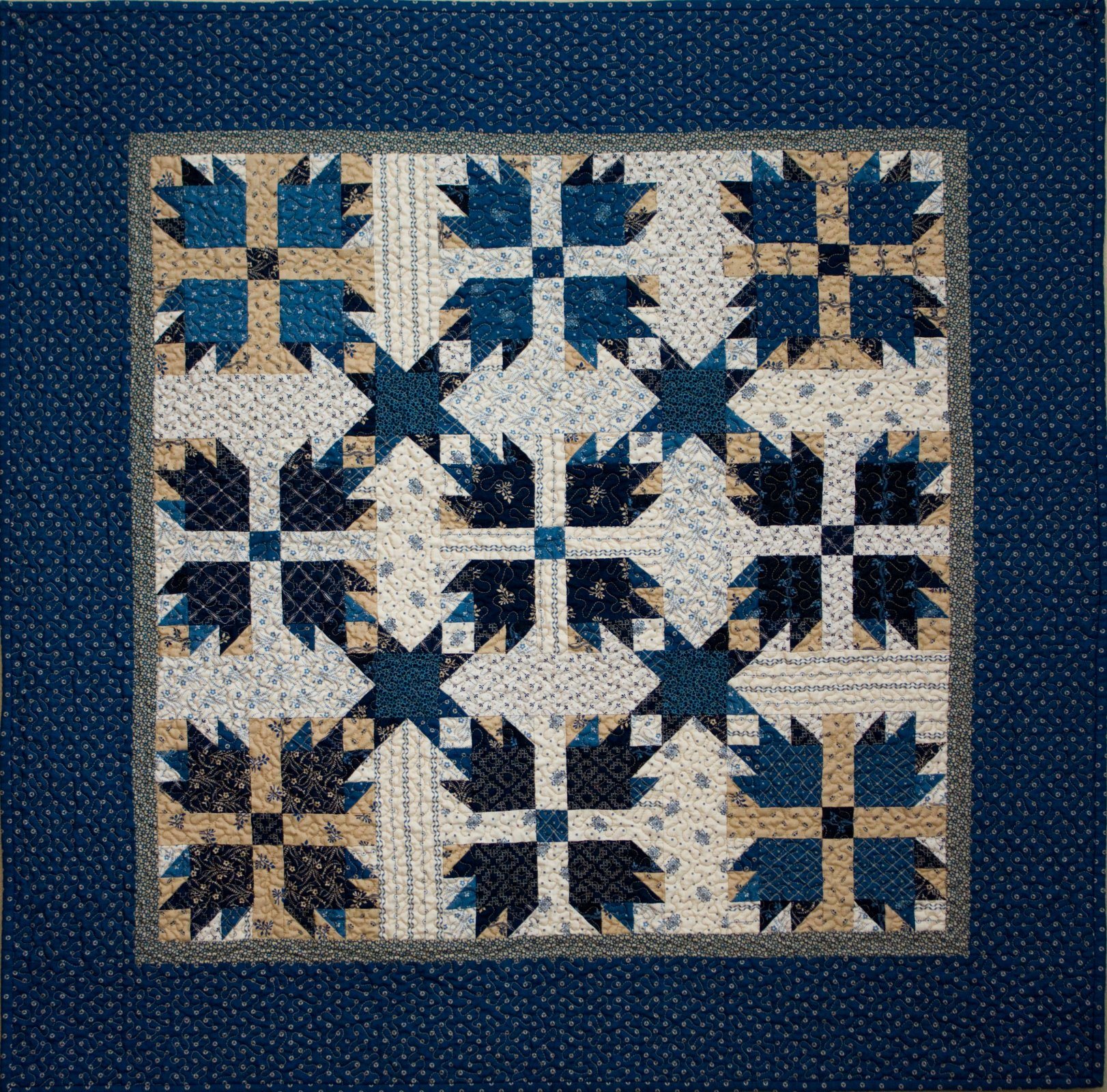 Little Bear Paw Blue Kit Includes Backing