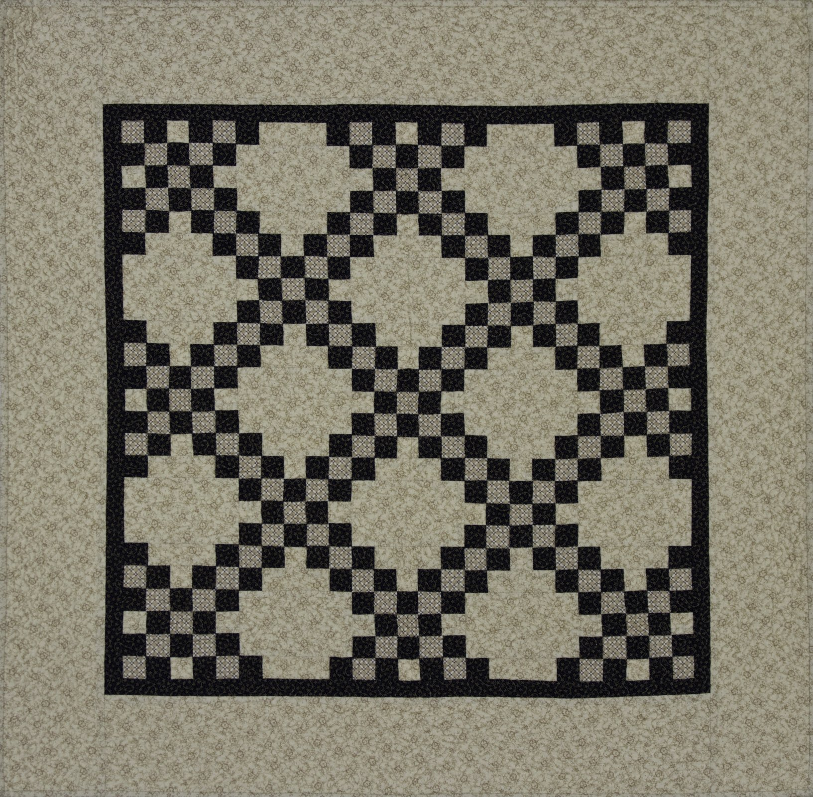 Irish Chain Blue and Cream Kit Includes Backing