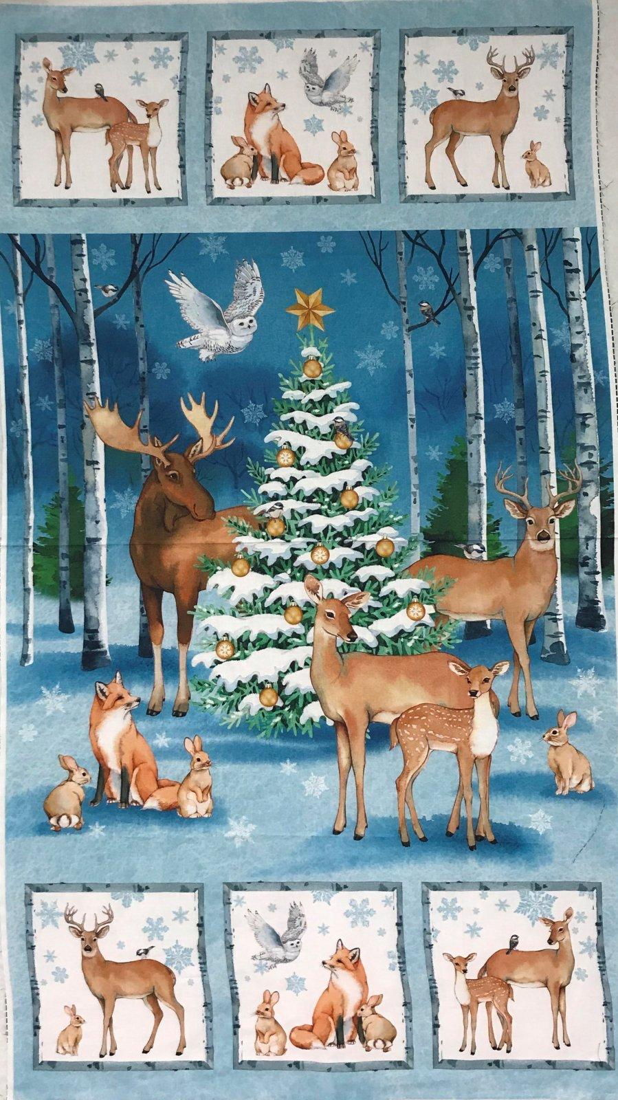 CHRISTMAS WOODLAND BLUE MULTI