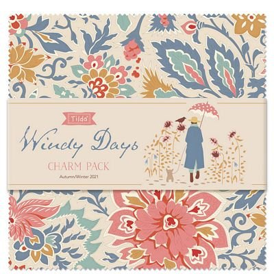 Pre-Order Tilda Windy Days Charm Pack (40 pcs)