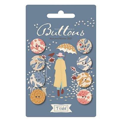 Pre-Order Tilda Windy Days Buttons - Blue (8 pcs 16mm)
