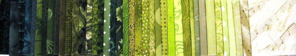 Shades of Green Ribbons