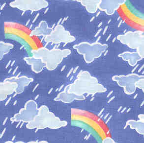 Blue Rainbow Fabric