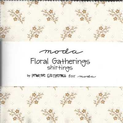 Floral Gatherings shirting charm pack