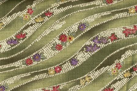 Green Waves Oriental Fabric