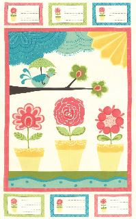 Chance of Flowers Panel Cloud from Moda
