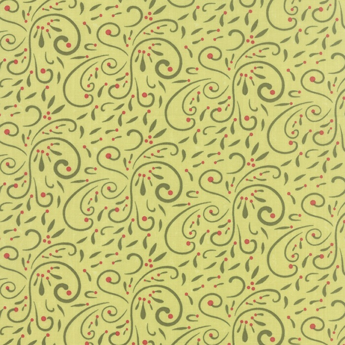 Very Merry Scroll Light Green