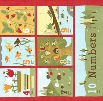 Ten Little Things by Jenn Ski for Moda Fabrics- Red