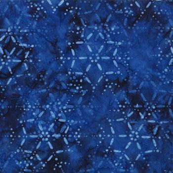 Snow Days Batiks-Moda- Snowflake Blue