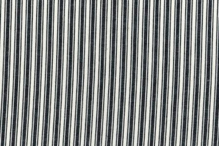 Black and White Cotton Ticking Stripe 58 Wide