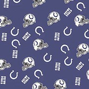 NFL Indianapolis Colts Fleece Fabric 60 wide