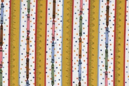 Crayons Rulers and Dots