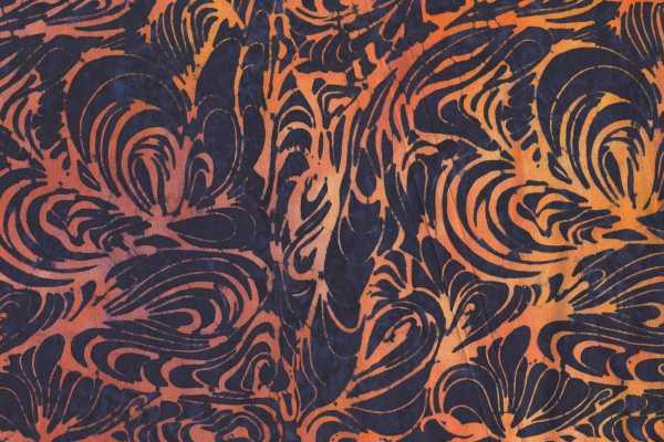 Black Batik with Swirls