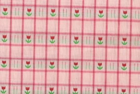 Pink Plaid with Tulips 60 Wide