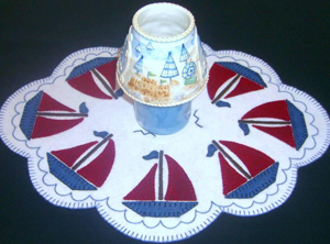 Boats for Sail Candle Mat