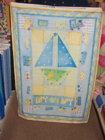 Baby Boy Fabric Panel