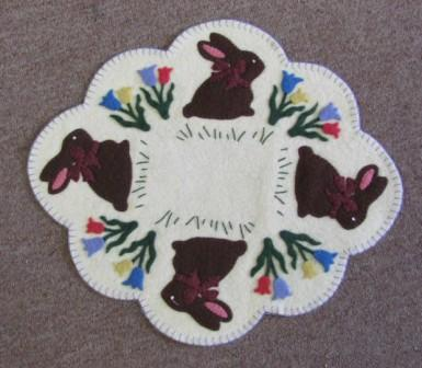 The Bunny Hop Candle Mat