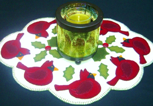 Cardinal Winter Candle Mat