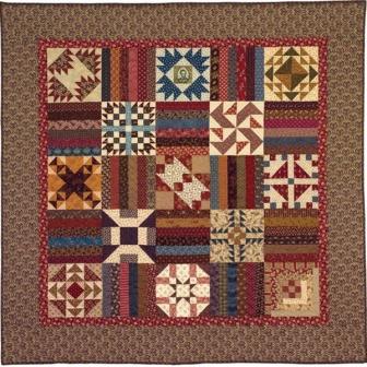 Land of Lincoln Sampler Quilt Pattern from Carol Hopkins Designs
