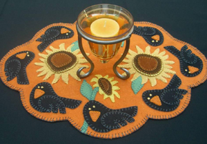 Crows Who Pose Candle Mat