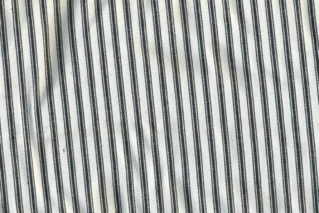 Black white stripe 100% cotton 60 Wide