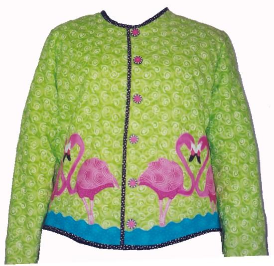 Flamingo Jacket by Jennifer Amor