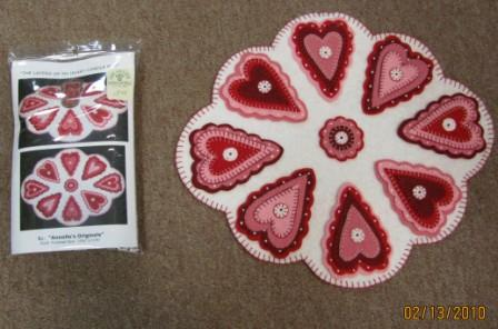 The Layers of My Heart Candle Mat