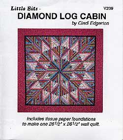 Little Bits Diamond Log Cabin Pattern