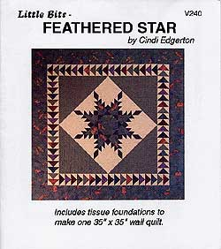 Little Bits Feathered Star Pattern