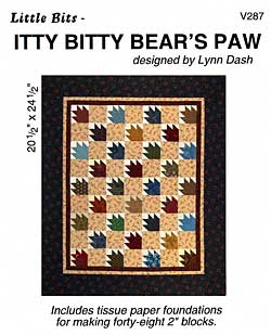 Little Bits Itty Bitty Bear's Paw Pattern