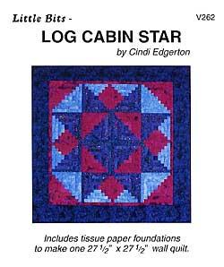 Little Bits Log cabin Star Pattern