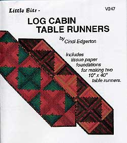 Little Bits Log Cabin Table Runners Pattern