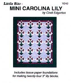 Little Bits Mini Carolina Lily Pattern