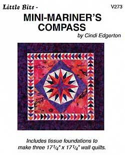 Little Bits Mini Mariner's Compass Pattern