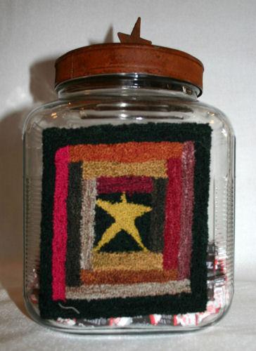 Log Cabin Candy Jar by Primitive Gatherings