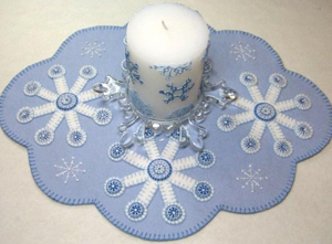 My Take on Flakes Candle Mat
