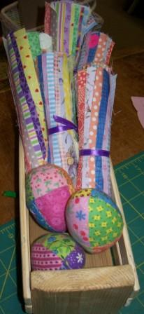 Patchwork Egg and Fabric
