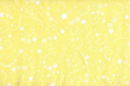 Color Vision - Yellow with White Stars Flannel