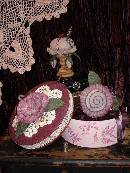 Vintage Rose Sewing Kit Pattern